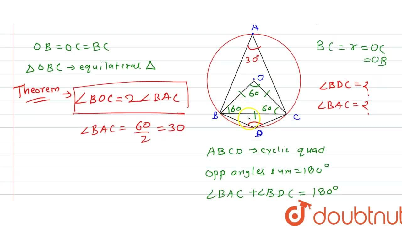 Solution for A chord of   a circle is equal to the radius of t