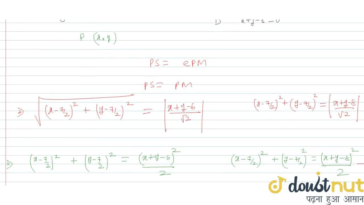 Solution for Equation of parabola having the extremities of its
