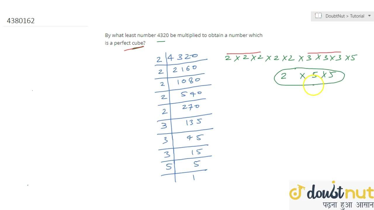 Solution for By what   least number 4320 be multiplied to obta