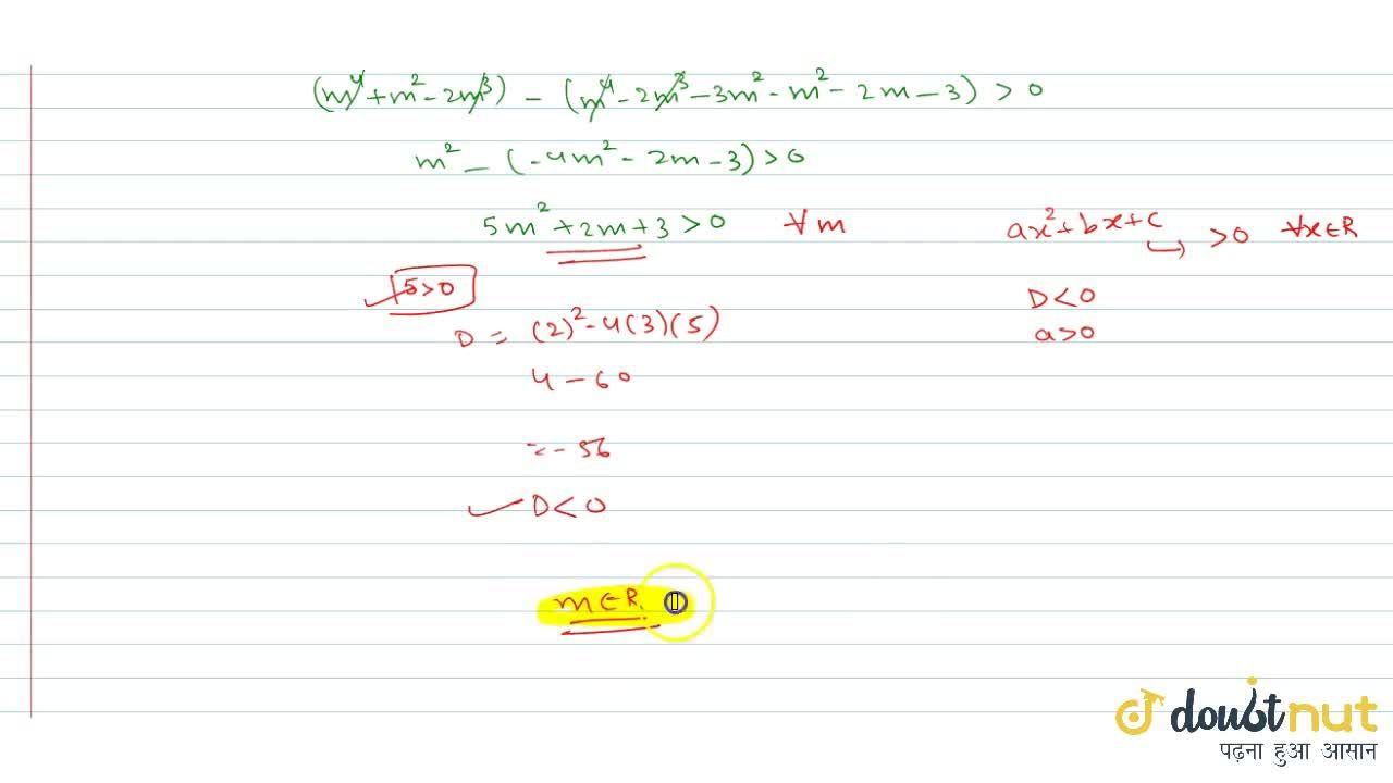 Solution for  If the line y = mx - (m-1) cuts the circle x^2