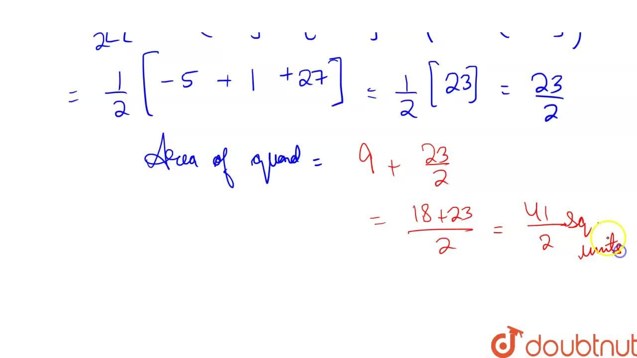 Solution for Find the area of the quadrilateral whose vertices