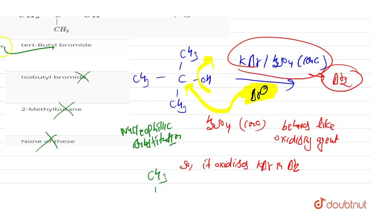 Solution for The main organic product of the reaction <br> CH_