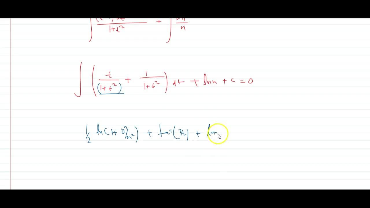 Solution for solve the differential equation (y + x)(dy),(dx)=