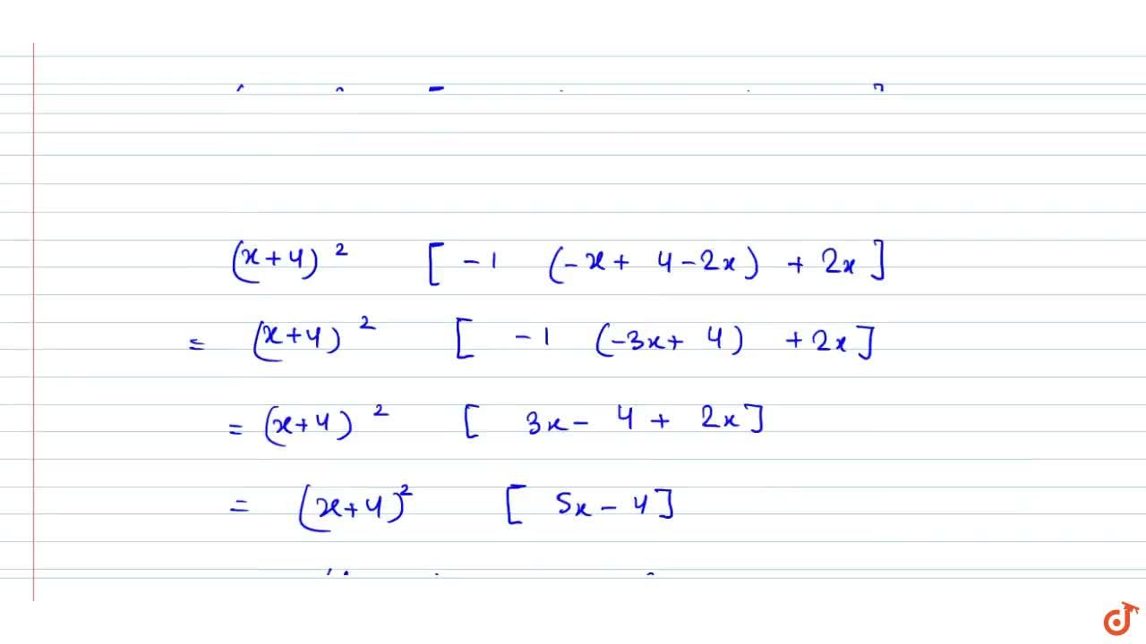 If |(x-4,2x,2x),(2x,x-4,2x),(2x,2x,x-4)|=(A+Bx)(x-A)^2 then the ordered pair (A,B) is equal to