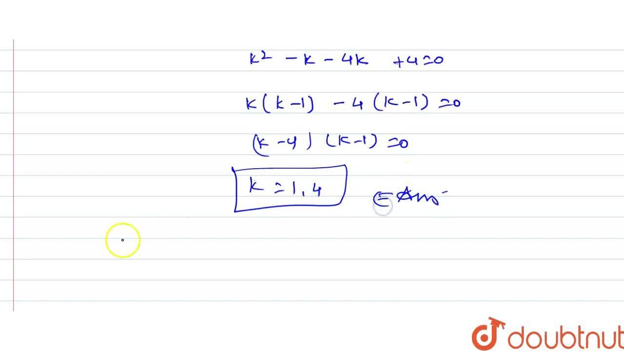 If the equation x^(2)+2(k+2)x+9k=0 has equal roots then k= ?
