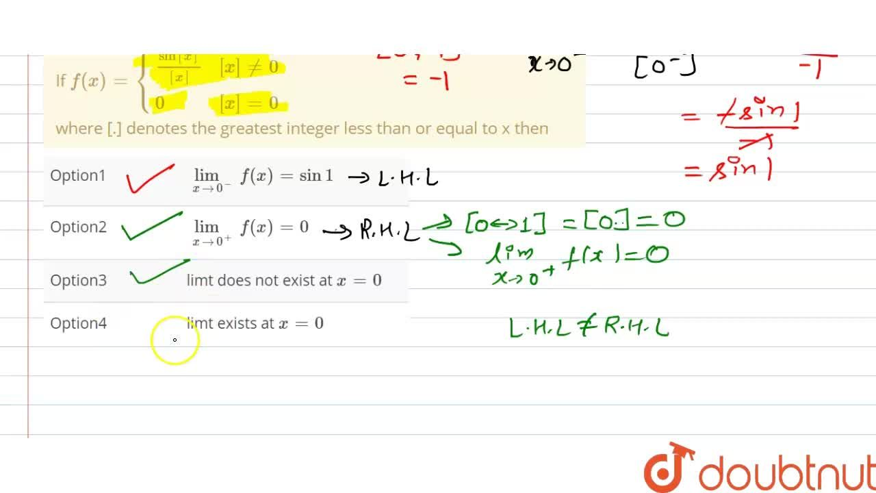 Solution for If f(x)={((sin[x]),([x]), [x]!=0),(0,[x]=0):} <b