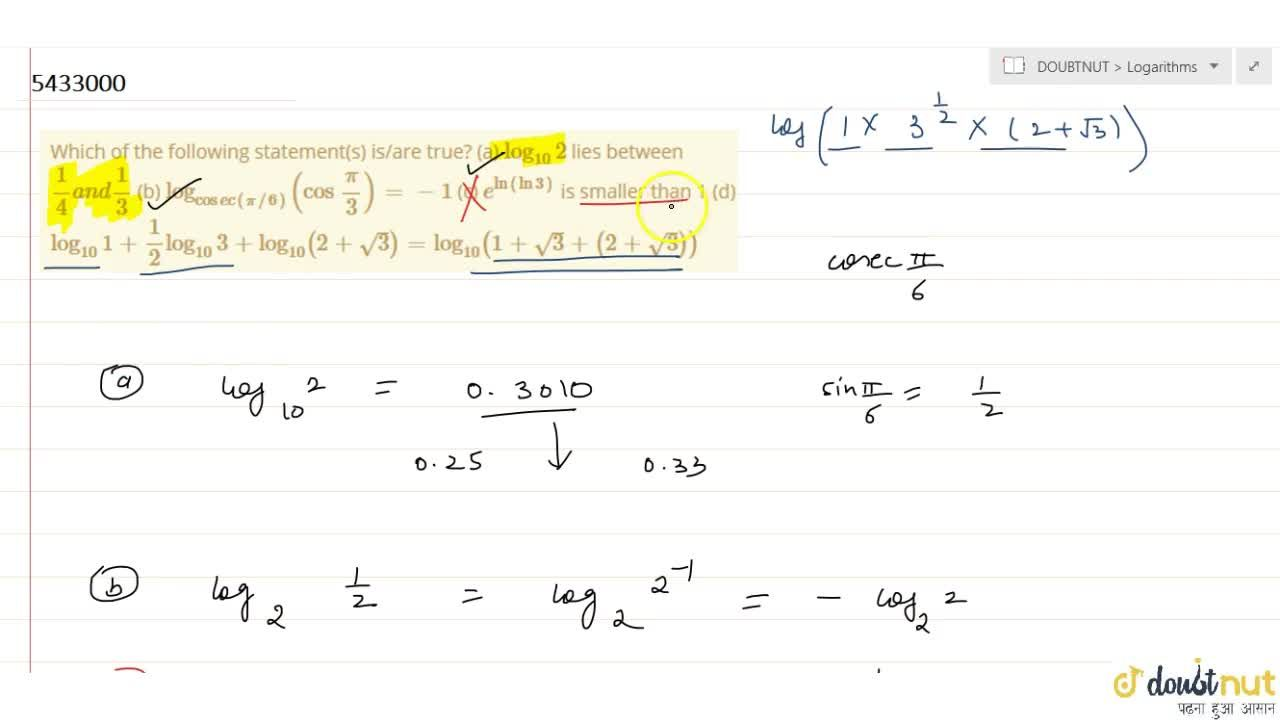 Solution for Which of the following statement(s) is,are true?