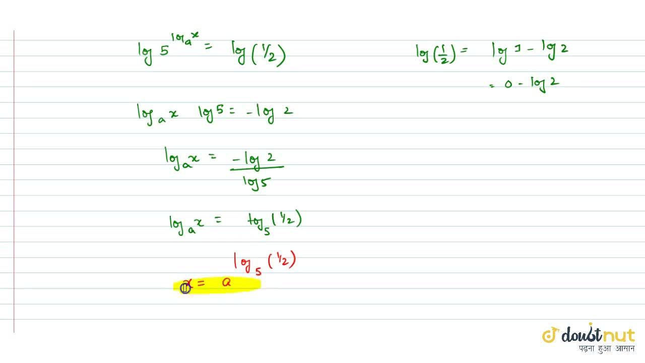 Solution for Solve for x :5^(logx)+5x^(log5)=3(a >0); where b