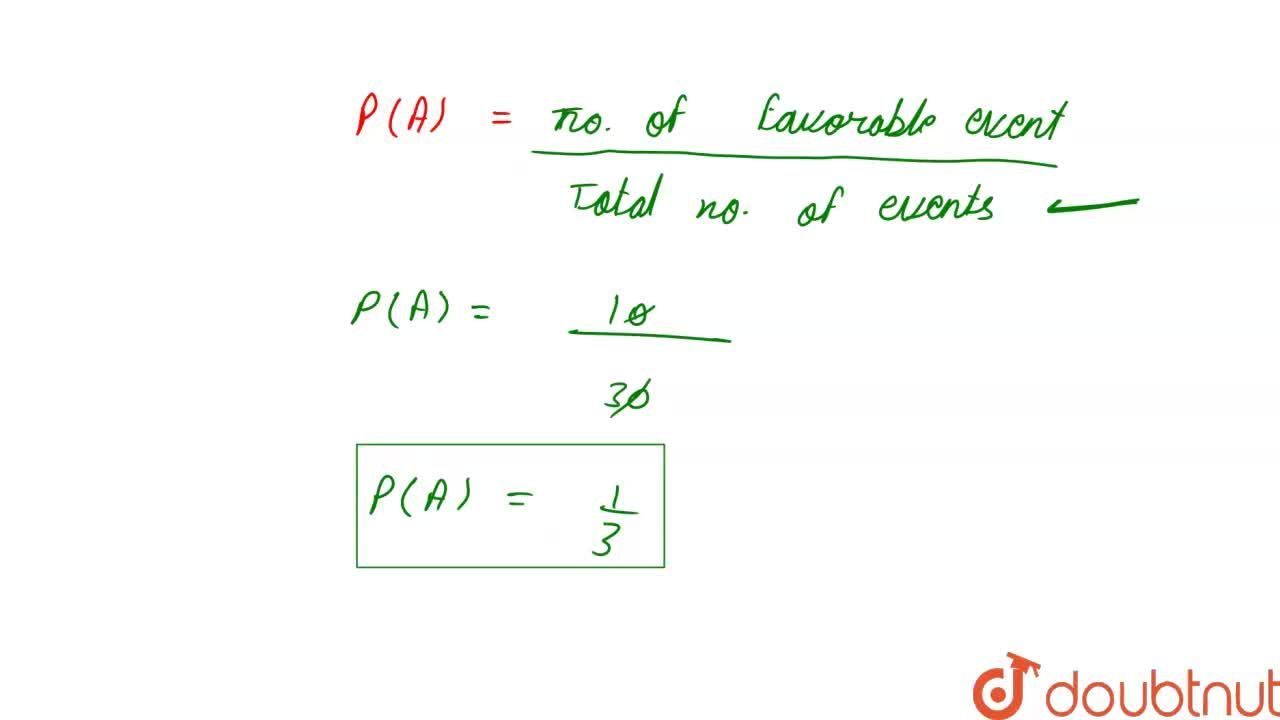 Solution for A number is selected at random from the  numbers 1
