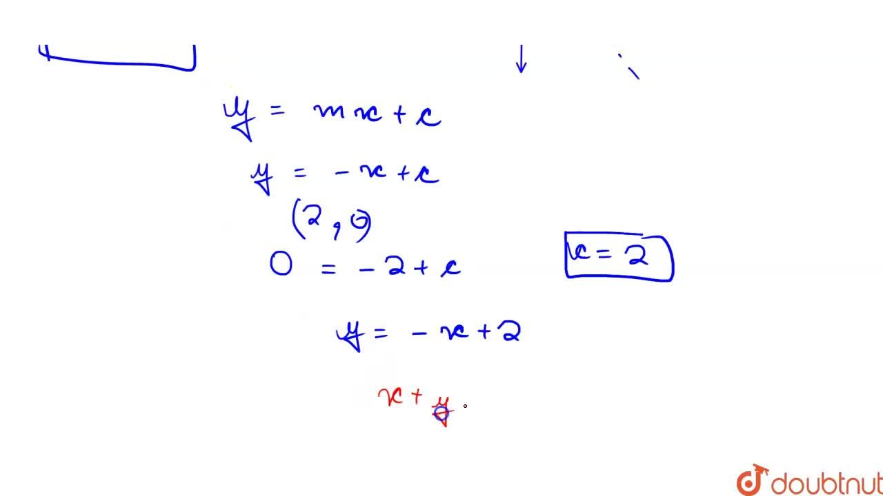 Solution for Find the equation of the line which intercepts a l