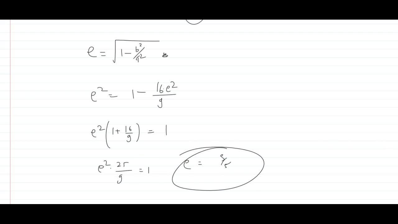 Solution for In an ellipse, the distances between its foci is