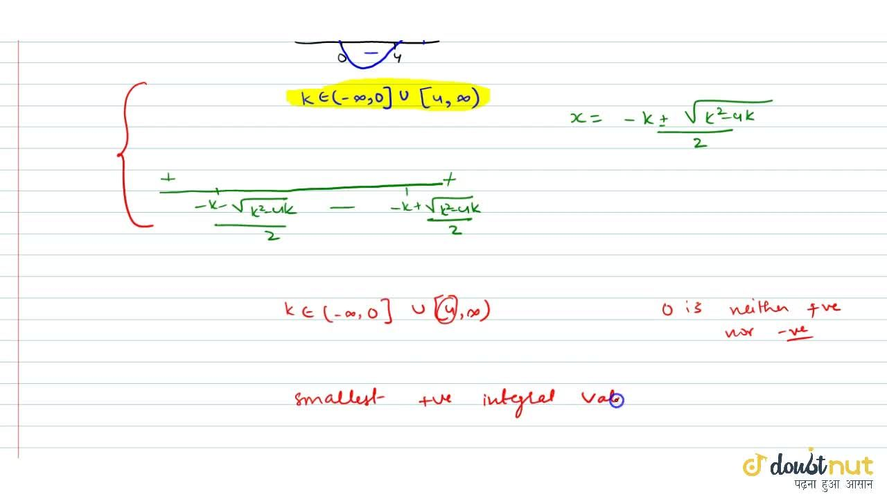 Solution for If the inequality x^2 + kx +k < 0 is satisfied f