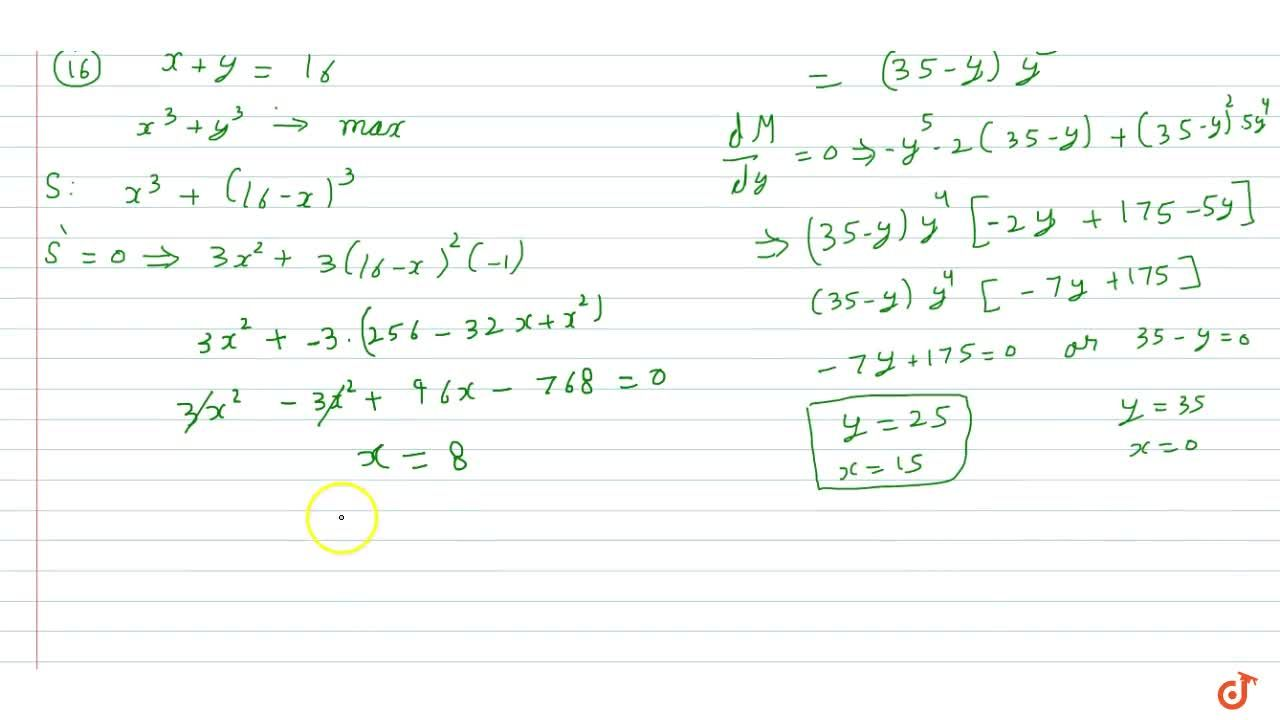 Solution for Find two positive numbers whose sum is 16 and the