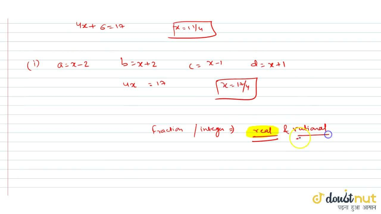 if a, b, c and d are distinct integers such that a + b + c + d = 17, then the real roots of (x-a)(x - b)(x - c)(x - d) = 4 are
