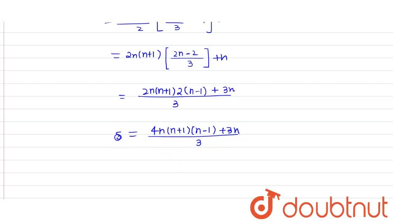 Find the sum of the series 1^2+3^2+5^2+ ton terms.