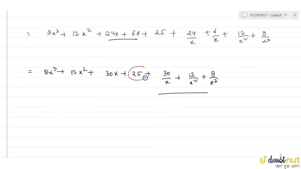 Solution for The term independent of x in the expansion of (