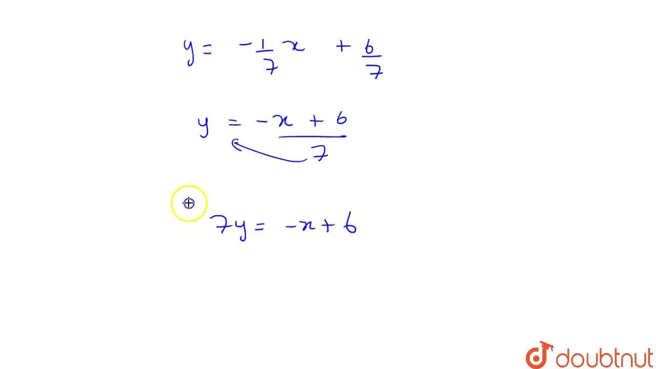 Solution for The line 3x - 4y + 7 = 0 is rotated through an a