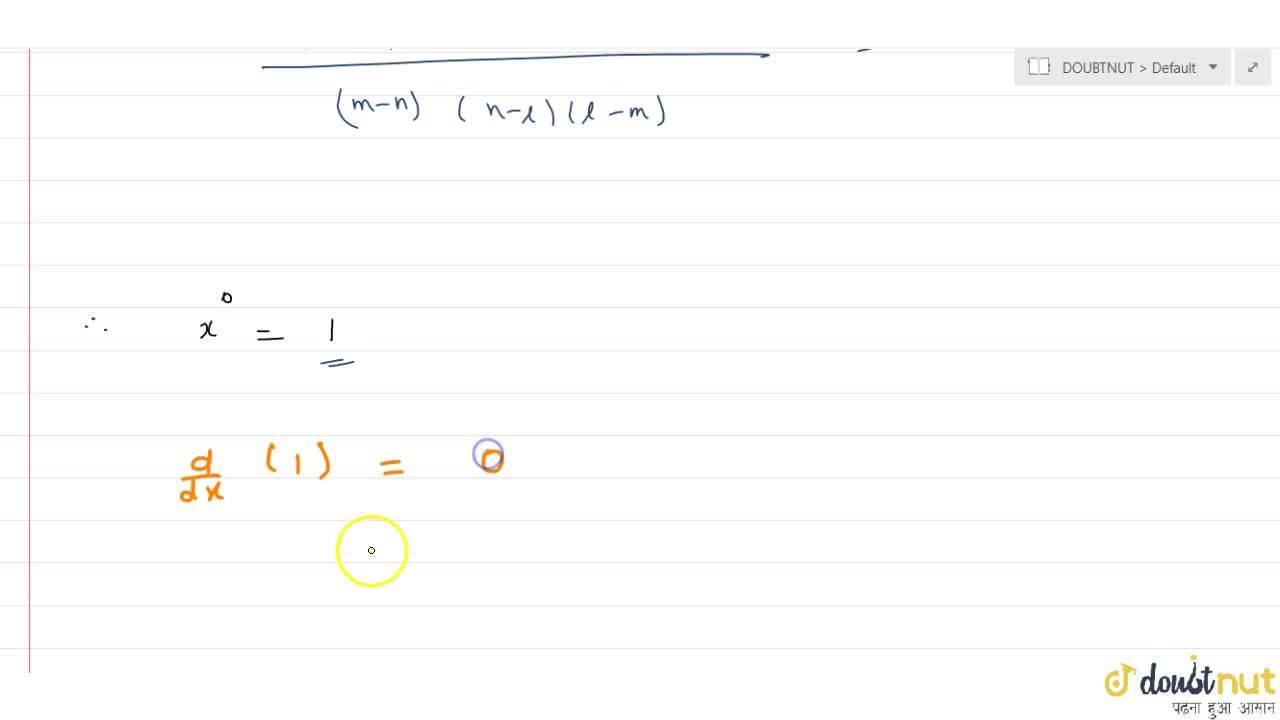 Solution for Differential coefficient of (x^((l+m),(m-n)))^(1,
