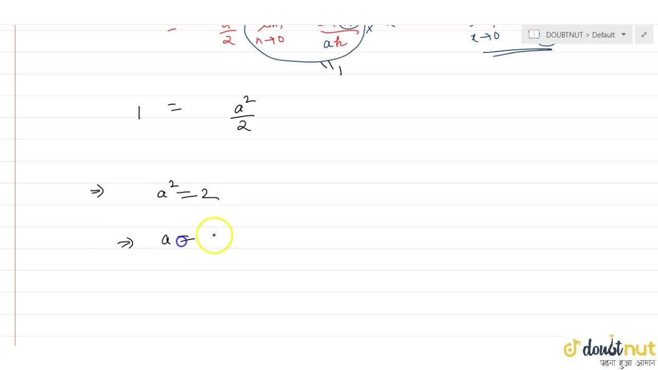 """Solution for If the function, f(x) = {((1-cos(ax)),x^2, ; """"whe"""