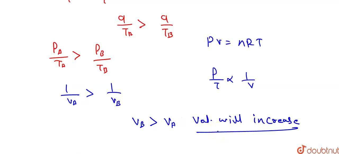 Solution for The p-T graph for the given mass of an ideal gas