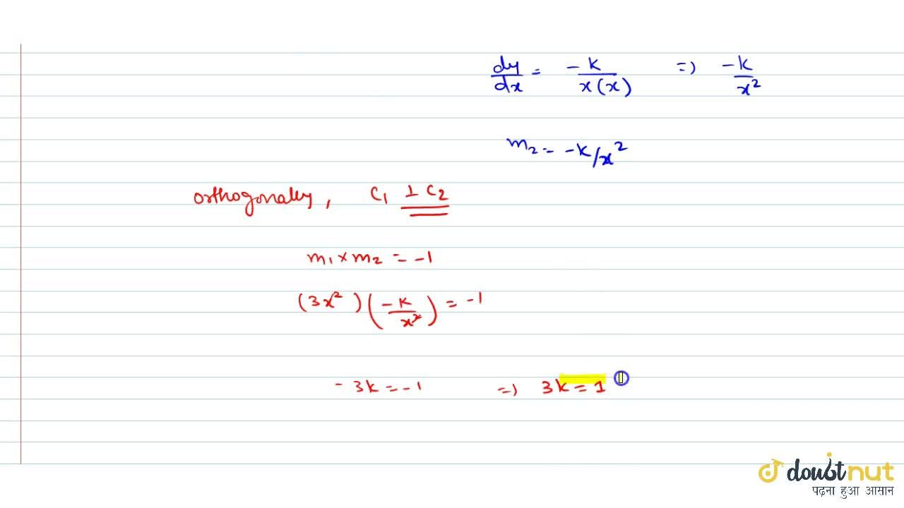 Solution for Prove that if the curves y=x^3 and xy=K inters