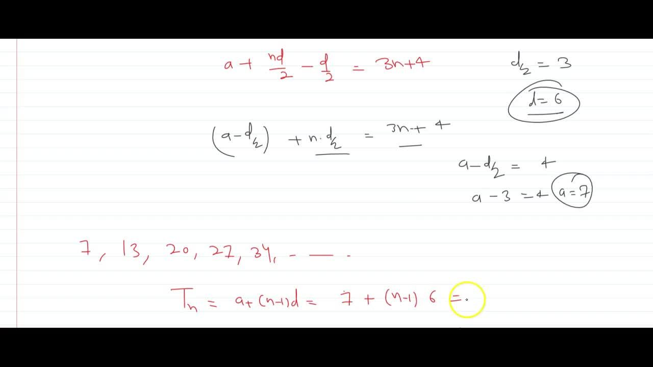 If the sum of first n terms of an A.P. is given by S=3n^2+4n. Determine the A.P. and the n^(th) term.