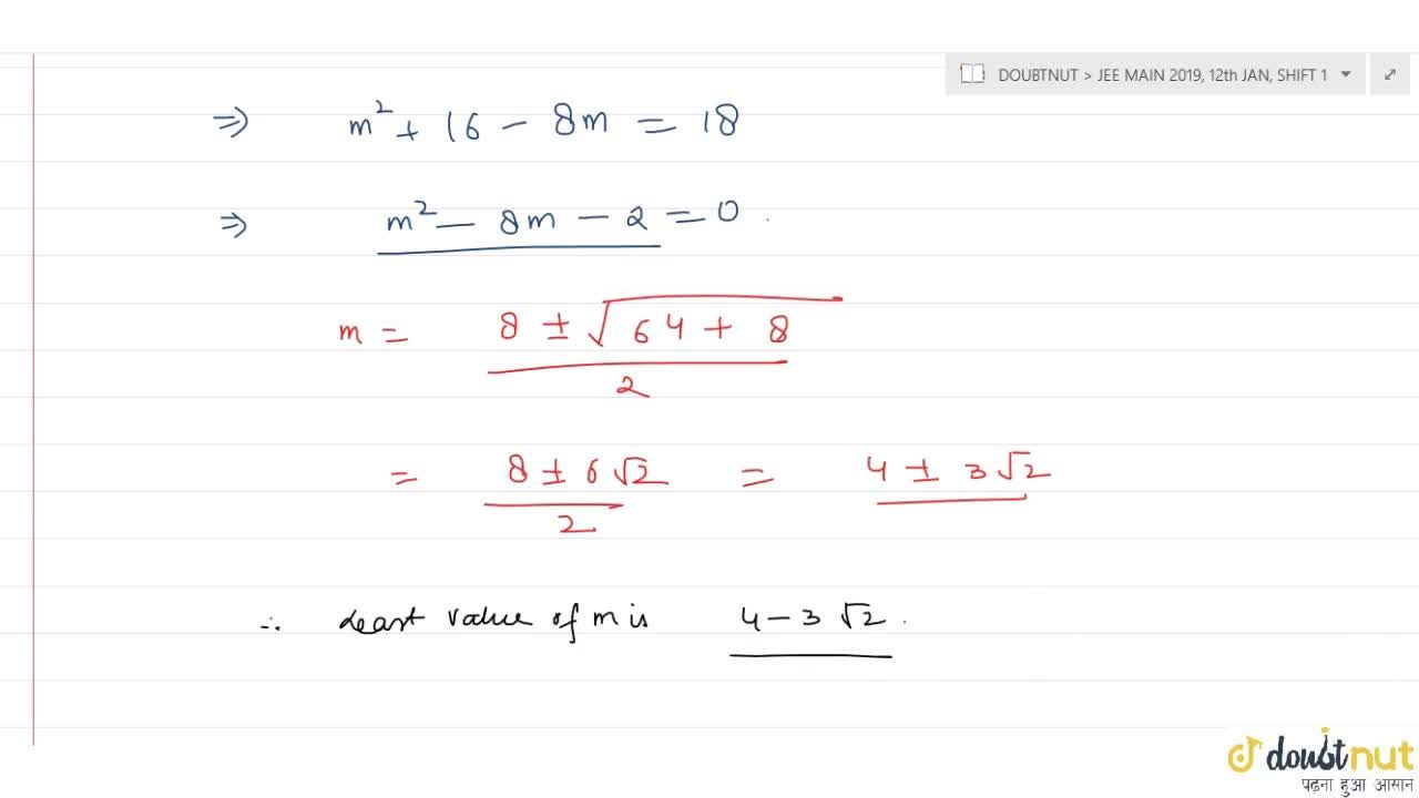 Solution for If ratio of the roots of the quadratic equation 3