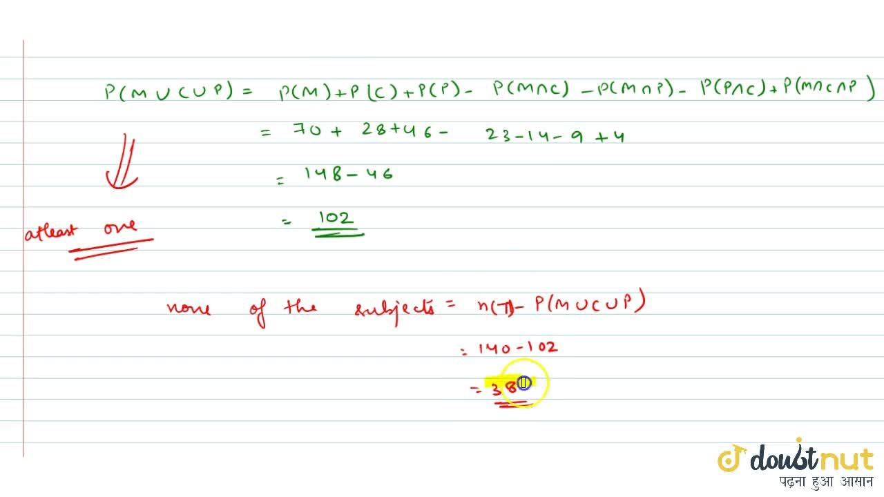 Solution for In a class 140 students numbered 1 to 140, all eve