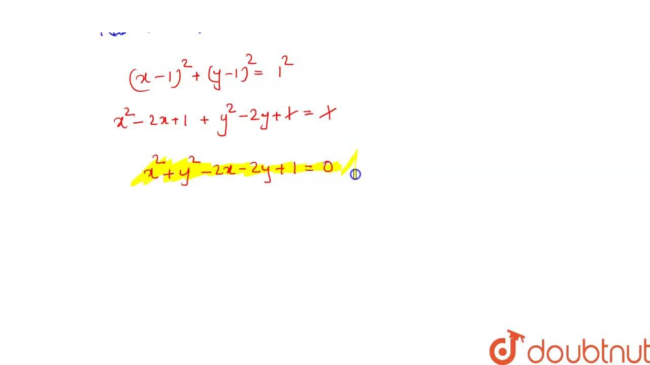 Solution for What is the equation of circle which touches  the