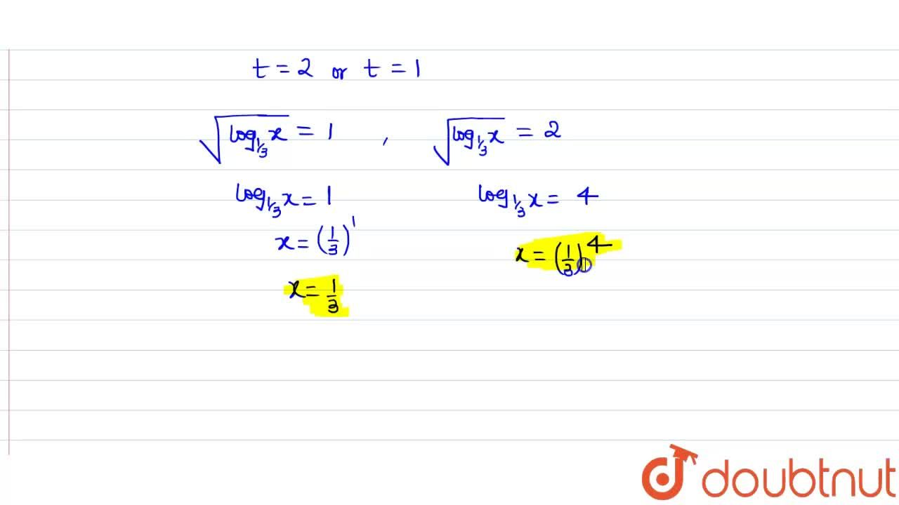 Solution for Solve following log equation (log)_(1,,3)x-3\ s