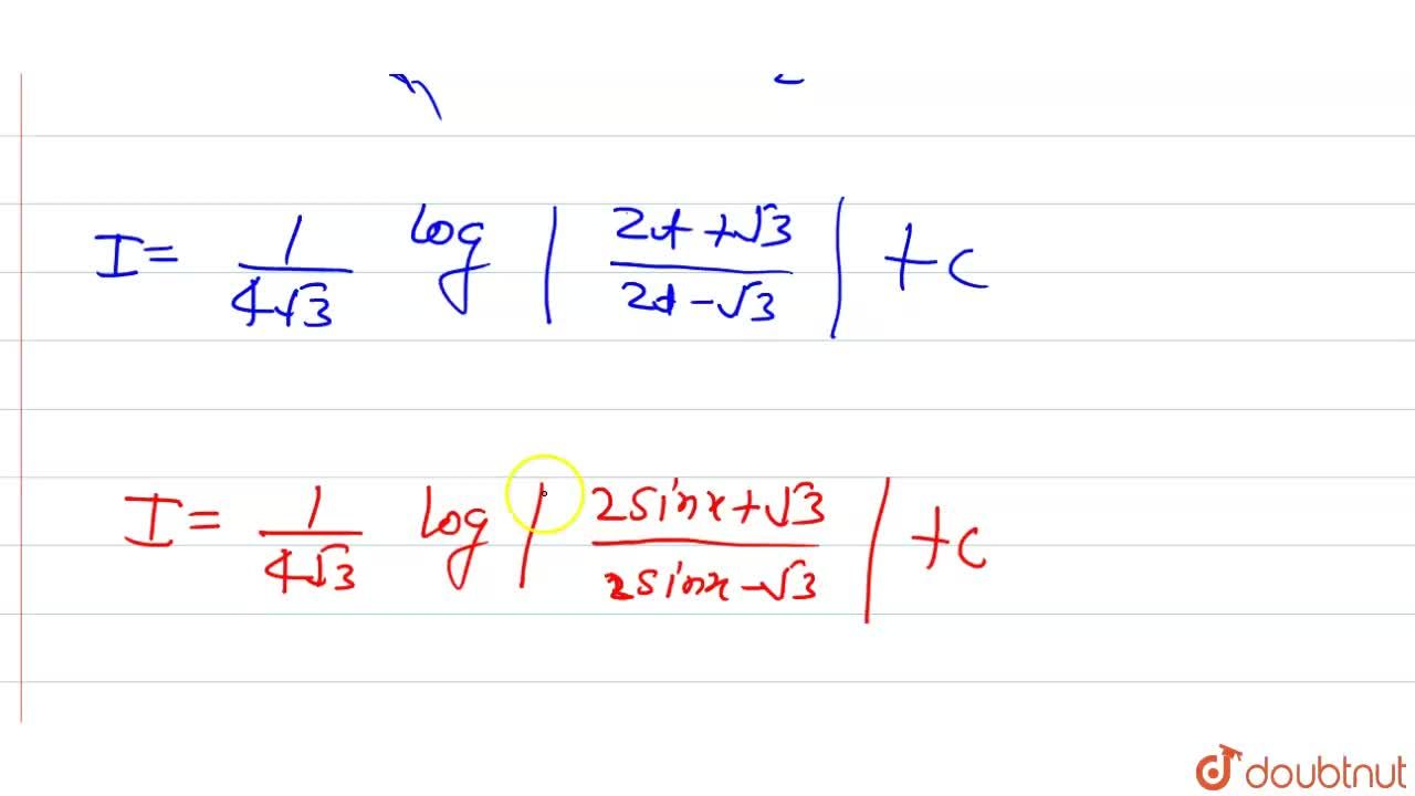 Solution for int(cosx),(3-4sin^2x)dx