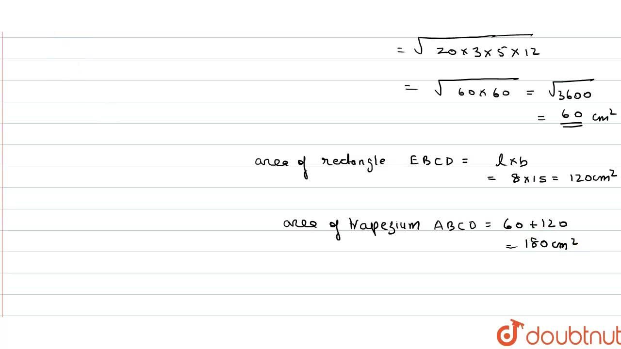 Solution for The given figure shows a trapezium  ABCD in which