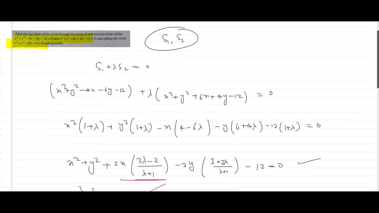 Solution for Find the equation of the circle through the points