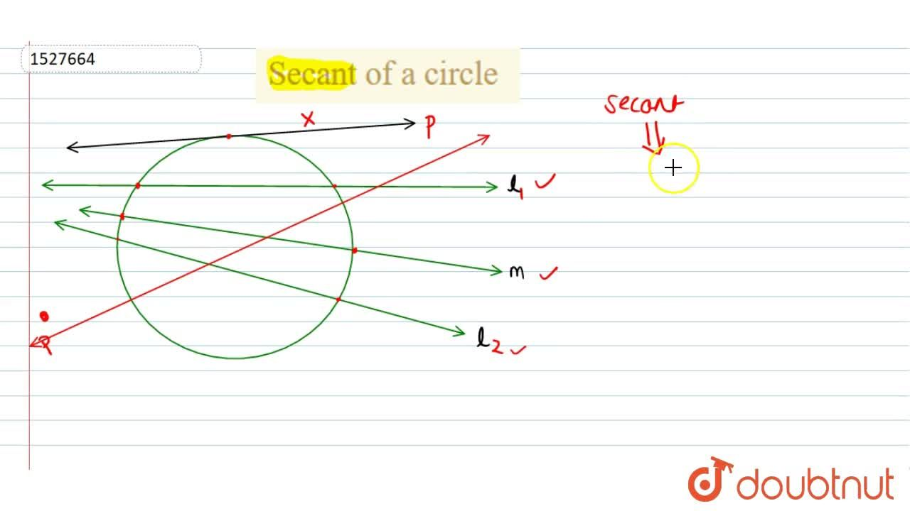 Solution for Secant of a circle