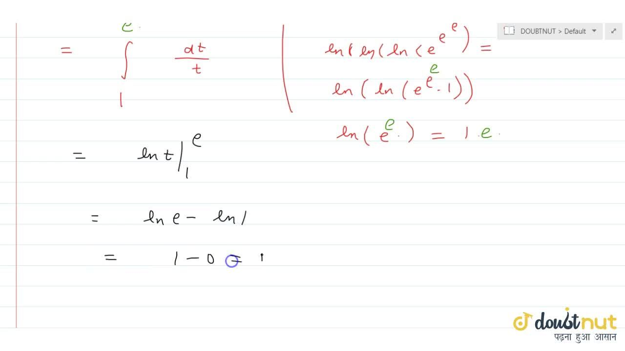 Solution for int_(e^(e^e))^(e^(e^(e^e)))(dx),(xlnx*ln(lnx)*ln(