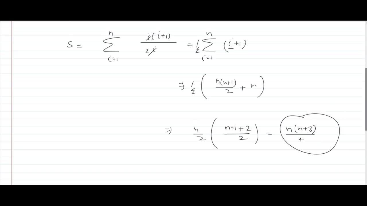 the sum of series 1+(1+2),2+(1+2+3),3+....... to n terms