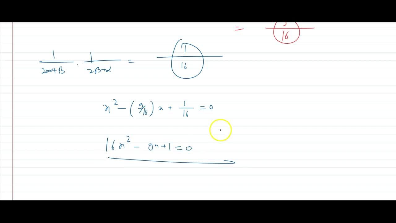 Solution for if  alpha and beta are the roots of the quadra