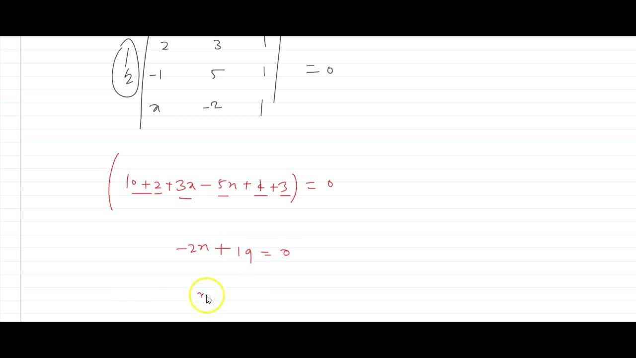 Solution for s(2, 3),(-1, 5)and(x ,-2)xi s