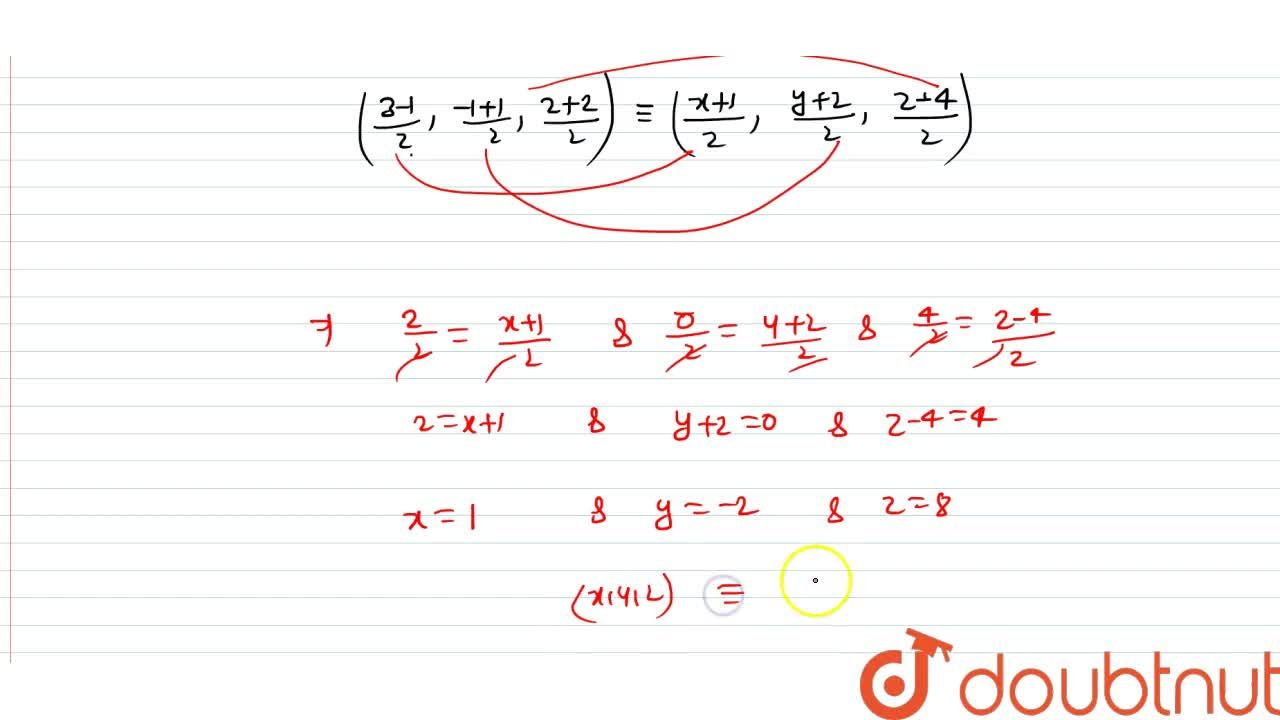Solution for Threevertices ofa parallelograsm ABCDasre A)3,-1,