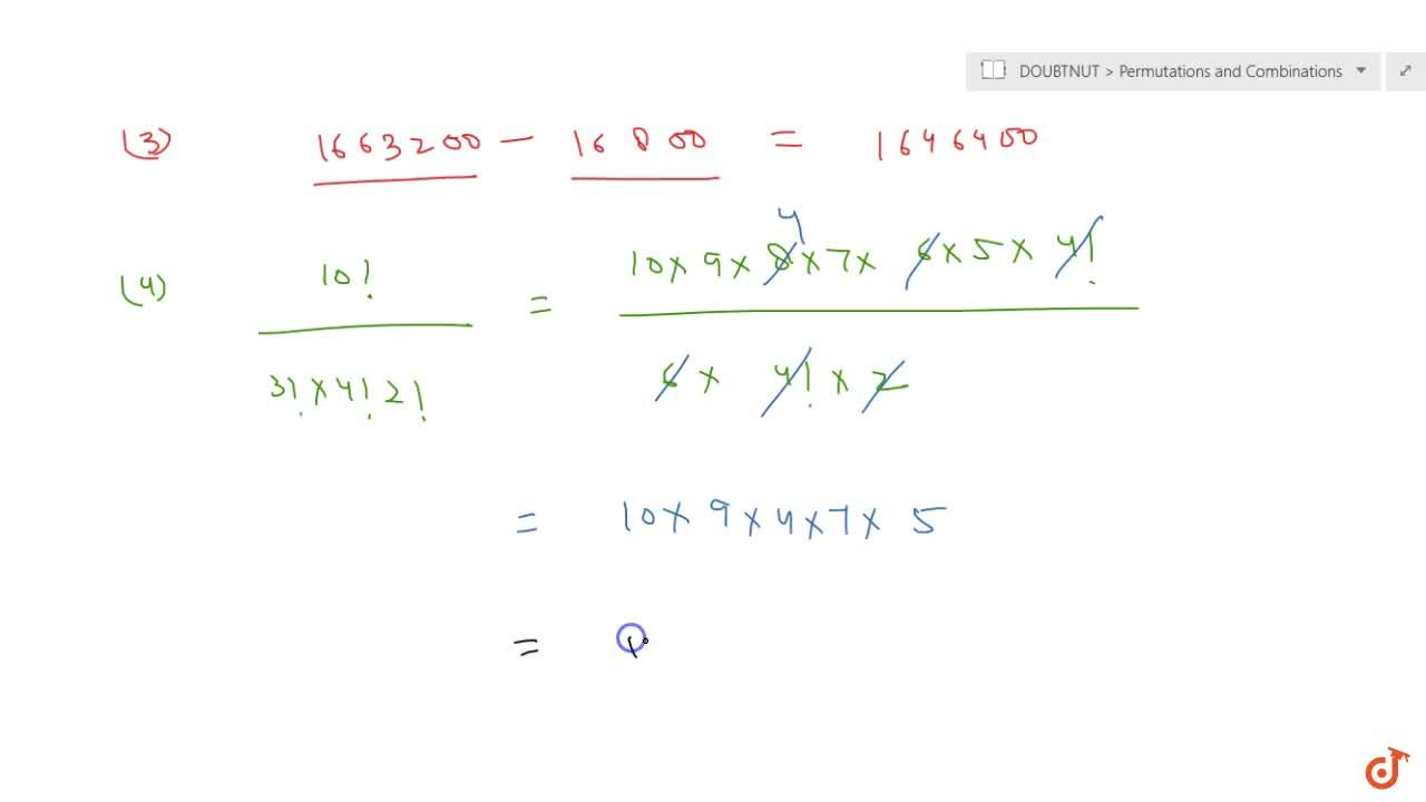 Solution for Find the number of   arrangements of the letters