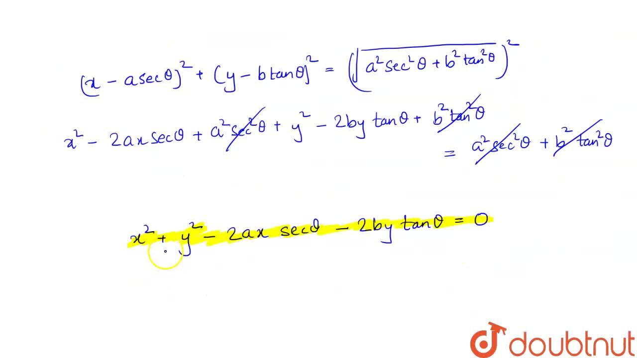 Solution for Find the equation of circle whose : <br> (i) radiu