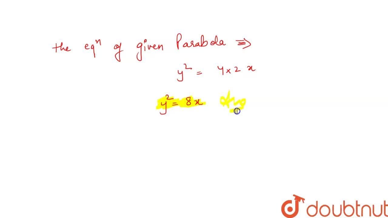 Solution for Find the equation of the parabola whose focus is (