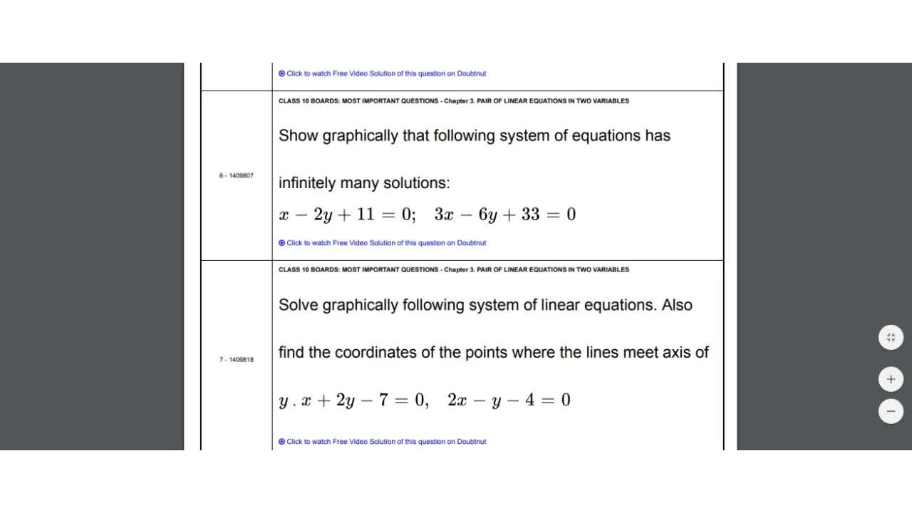 Solution for Most Important Questions For Class 10 Maths    Pai