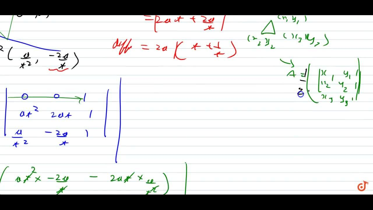 Solution for    The triangle PQR of area 'A' is inscribed in th