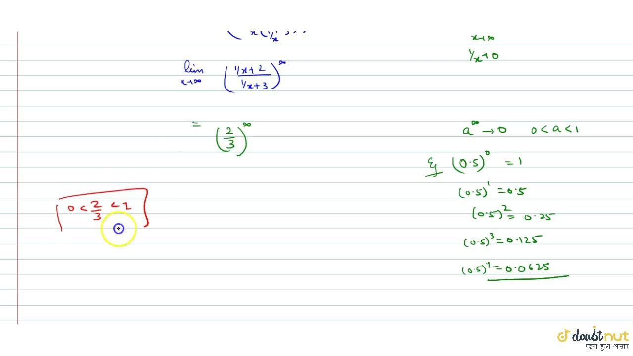 Solution for lim_(x-gtoo)((1+2x),(1+3x))^x