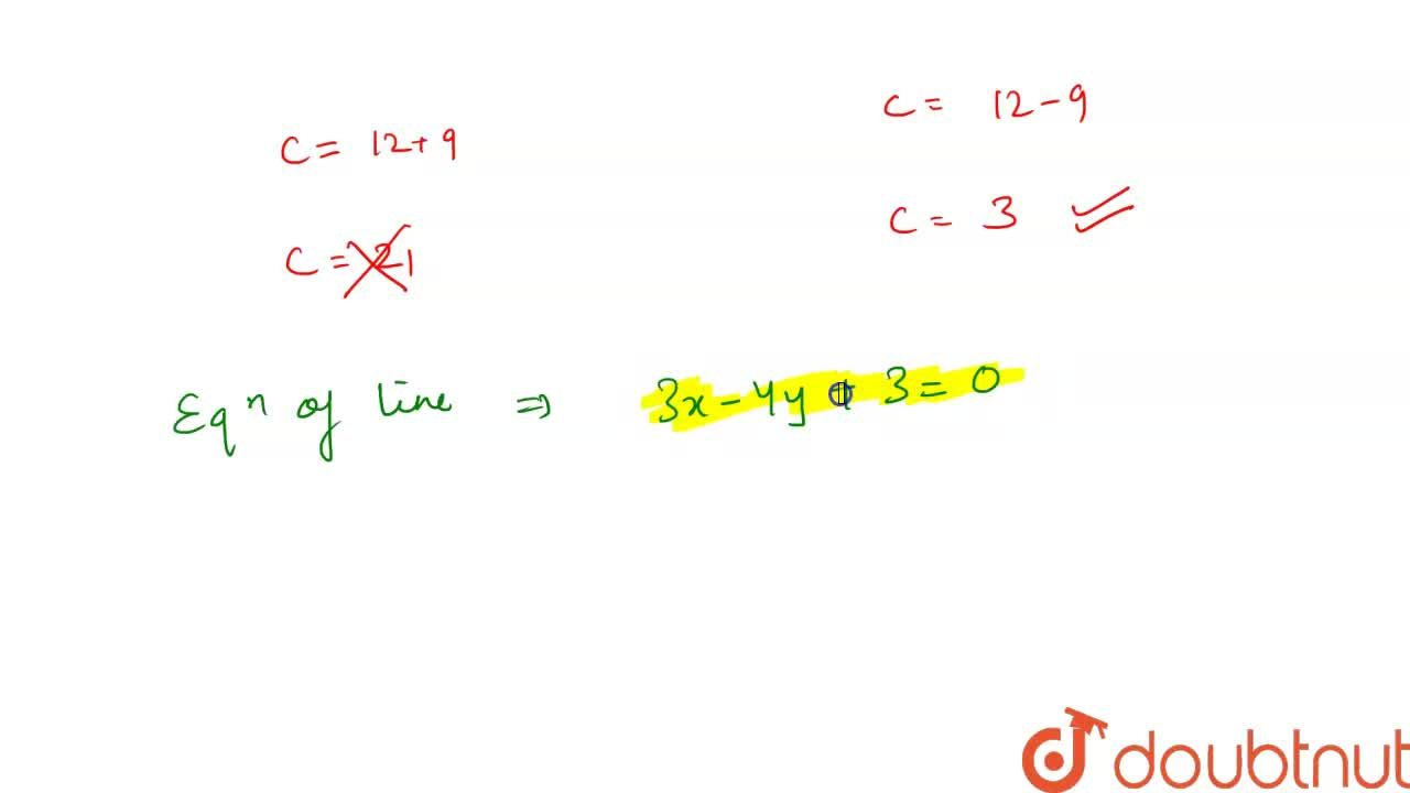 What is the equation of the line midway between the lines 3x - 4y + 12 = 0 and 3x - 4y = 6?