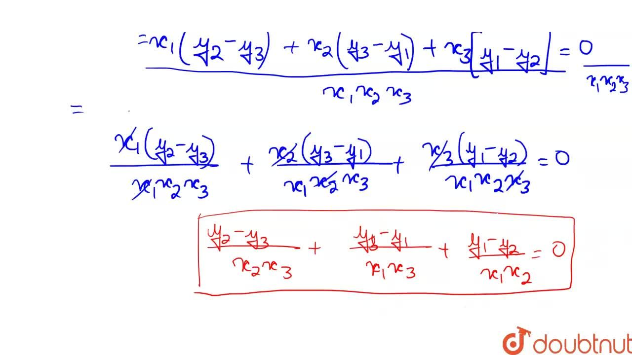 Solution for If the points (x_1, y_1), (x_2, y_2) and (x_3, y_