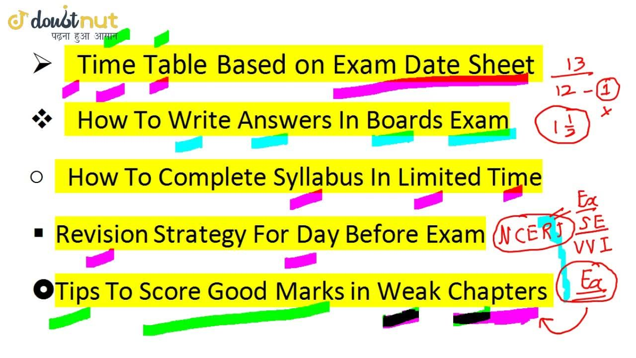 Solution for How To Prepare For Class 10 Board Exams 2019   Tip