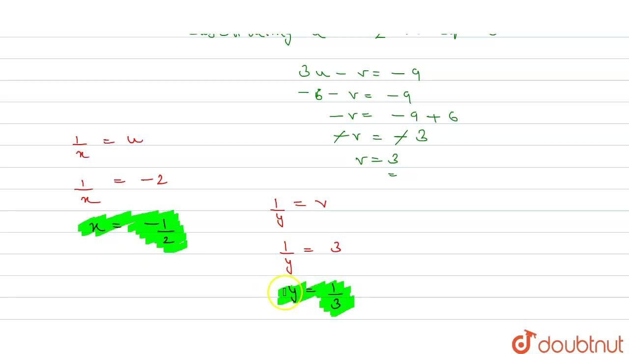Solution for Solve the following   system of equations: 3,x-1