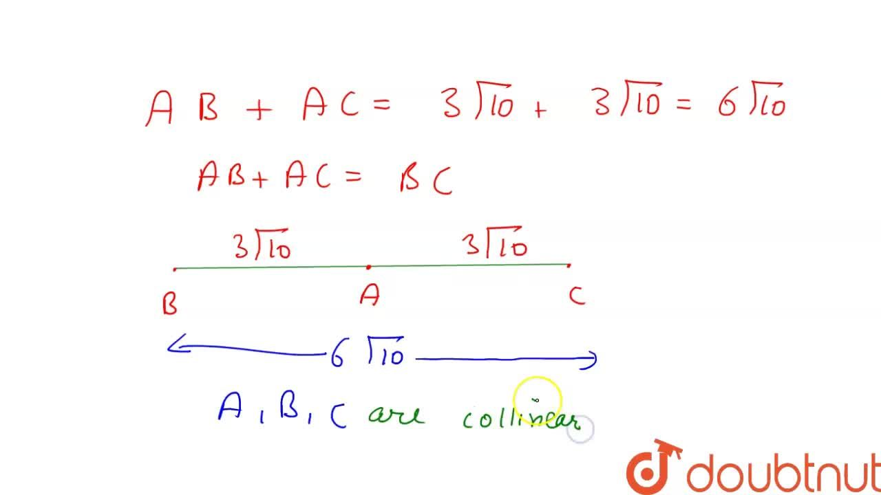 Solution for Using distance formula prove that the following po